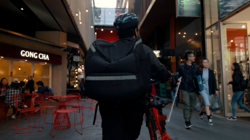 Food delivery, Documentaire, Icce, Ubereats, Foodora, Melbourne, Australië, PONYfilm