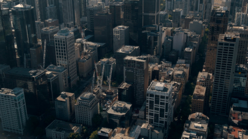 Skyline, wolkenkrabbers, bouw, industrieel, Melbourne, PONYfilm